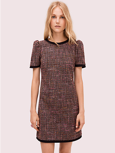 puff sleeve tweed dress, , rr_productgrid