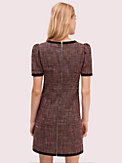 puff sleeve tweed dress, , s7productThumbnail