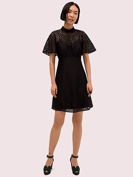 flora leopard lace mini dress by kate spade new york