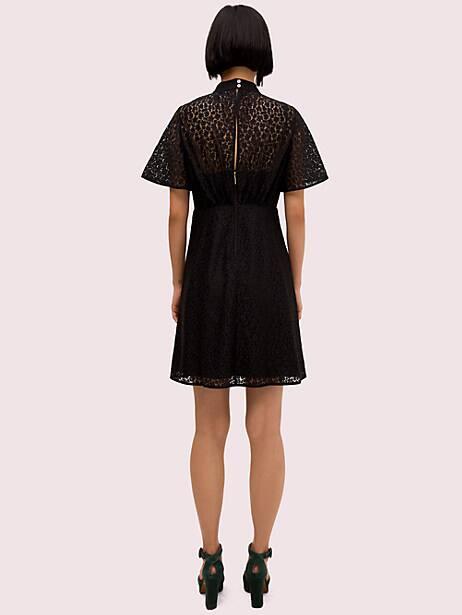 Flora leopard lace mini dress | Kate Spade New York