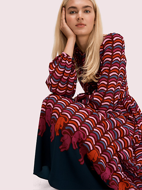Rawr crepe midi dress | Kate Spade New York