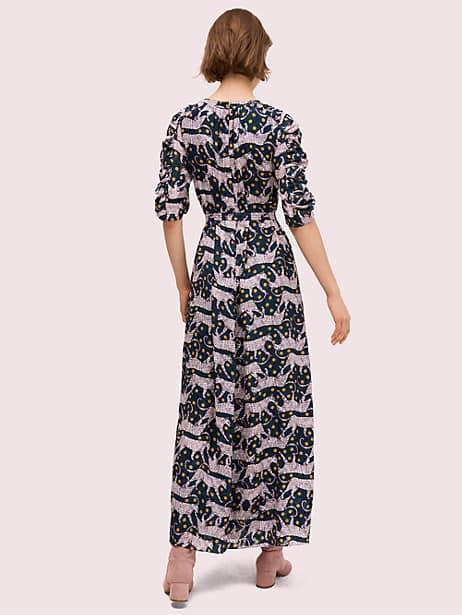 Panther dot midi dress   Kate Spade New York