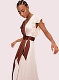 satin colorblock dress, , s7productThumbnail