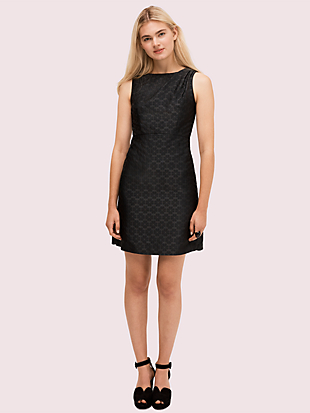spade flower jacquard dress by kate spade new york non-hover view