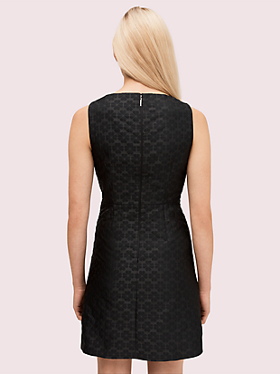 spade flower jacquard dress by kate spade new york hover view