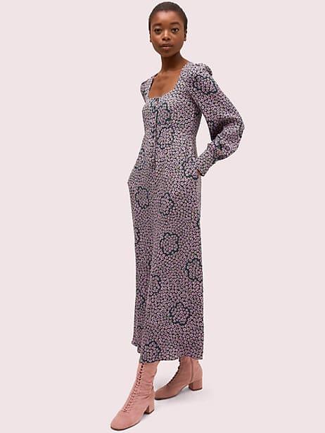 flair flora crepe midi dress by kate spade new york