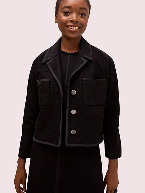 Tweed pocket jacket | Kate Spade New York