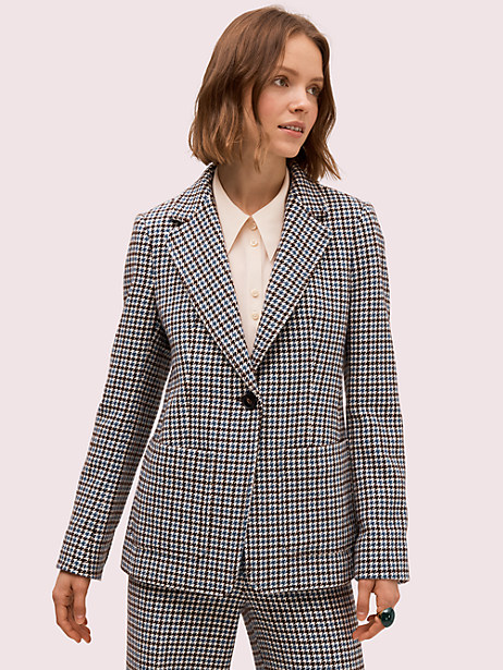 pop houndstooth blazer by kate spade new york
