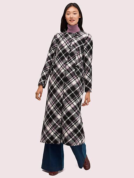 plaid bouclé coat by kate spade new york