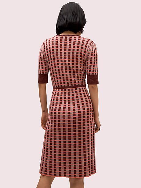 Plaid wrap sweater dress   Kate Spade New York