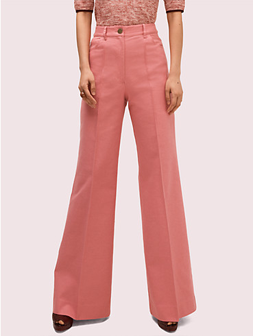 heather basket weave flare pant, , rr_productgrid