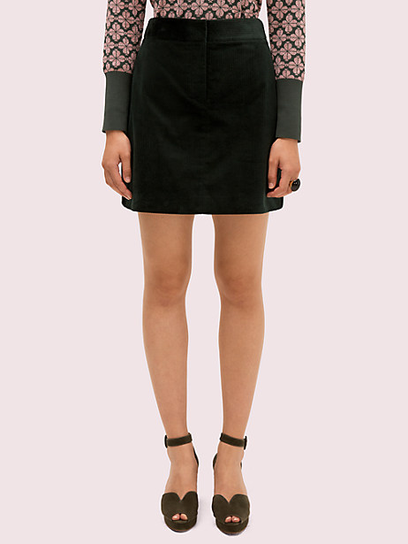 modern cord mini skirt, deep spruce, large by kate spade new york