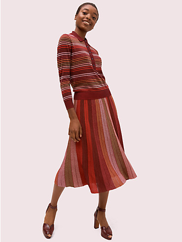 metallic stripe knit skirt, , rr_productgrid