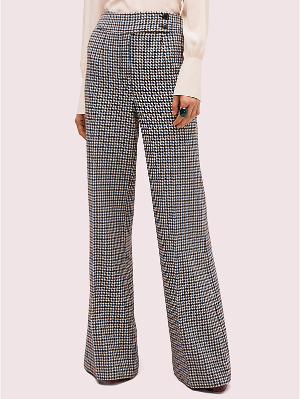 pop houndstooth flare pant, , rr_large