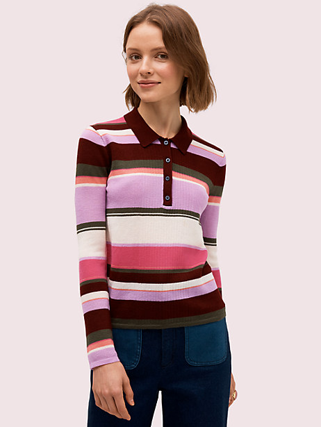 fine stripe polo sweater by kate spade new york