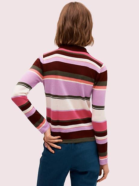 Fine stripe polo sweater | Kate Spade New York