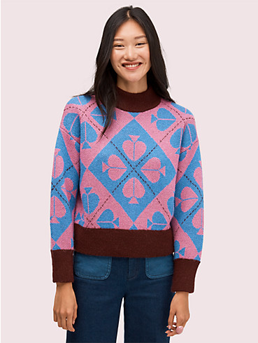Pullover im geometrischen Pik-Muster, , rr_productgrid