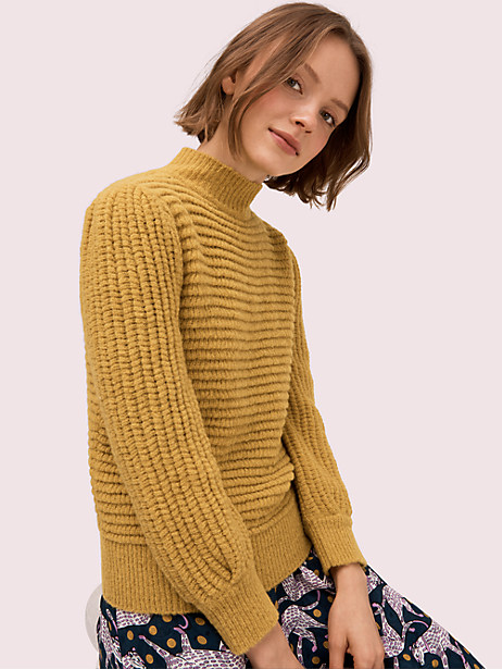 textured mockneck sweater by kate spade new york