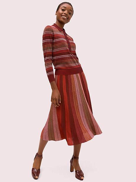 Metallic stripe polo sweater   Kate Spade New York