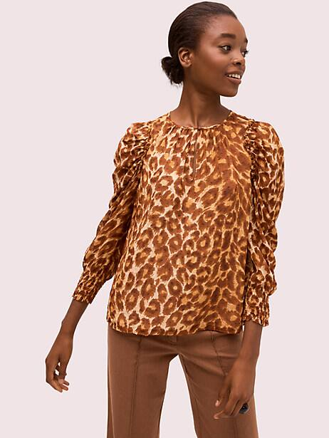 panthera chiffon blouse by kate spade new york