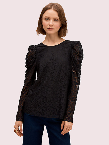 flora leopard lace blouse by kate spade new york