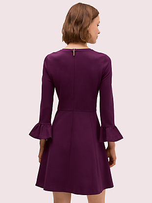 bell sleeve ponte dress by kate spade new york hover view