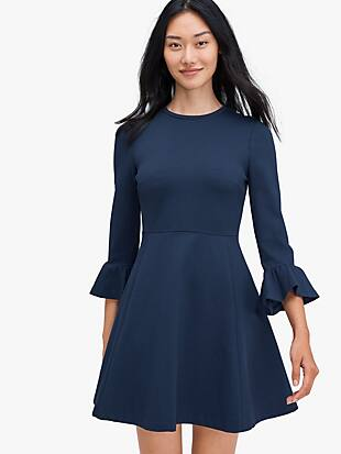 bell sleeve ponte dress by kate spade new york non-hover view