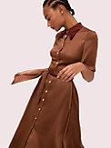 satin smocked back shirtdress, , s7productThumbnail