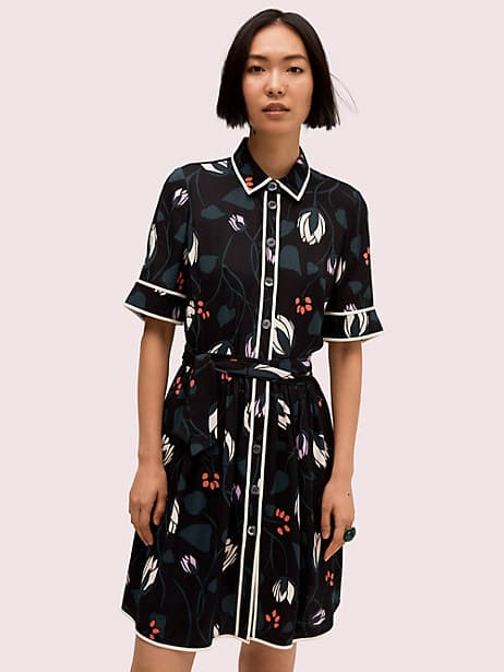 deco bloom short sleeve shirtdress by kate spade new york