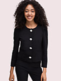 jewel button ponte jacket, , s7productThumbnail