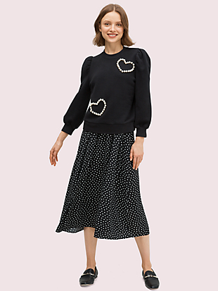 pearl heart sweatshirt by kate spade new york non-hover view