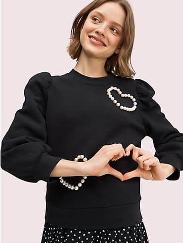 Sweatshirt mit herzförmigen Pavé-Perlen, , rr_productgrid