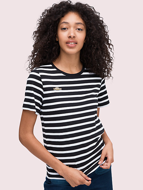 nighttime taxi tee, black, large by kate spade new york