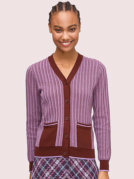 bicolor ribbed cardigan by kate spade new york