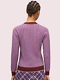 bicolor ribbed cardigan, , s7productThumbnail