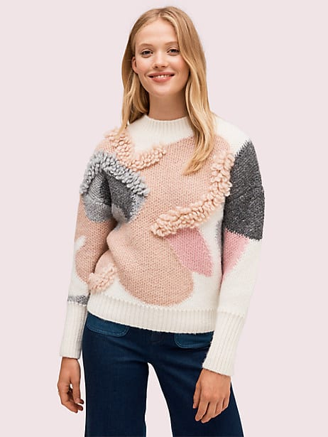 textured bloom sweater by kate spade new york