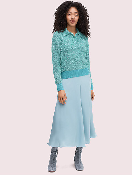 Silk charmeuse midi skirt | Kate Spade New York