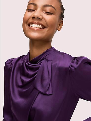 Kleid mit drapiertem Halsausschnitt, , rr_productgrid