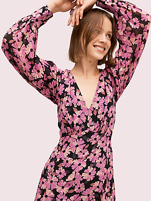 floral chiffon dress by kate spade new york hover view