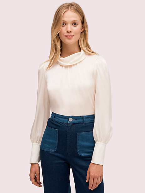silk charmeuse blouse by kate spade new york