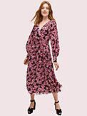 floral chiffon midi dress, , s7productThumbnail
