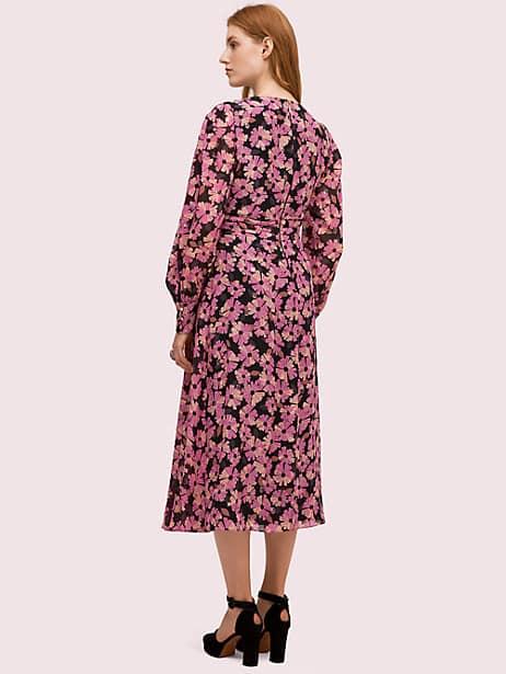 Floral chiffon midi dress   Kate Spade New York