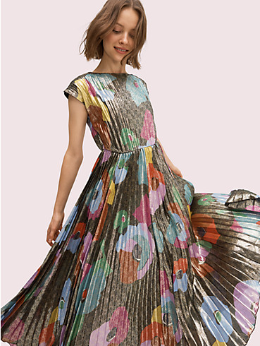 floral collage shimmer dress, , rr_productgrid