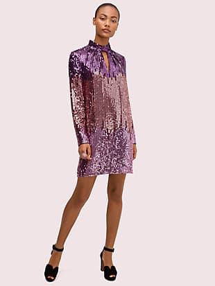 ombré sequin dress by kate spade new york non-hover view