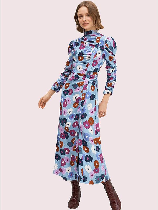 winter garden high neck dress, , rr_large