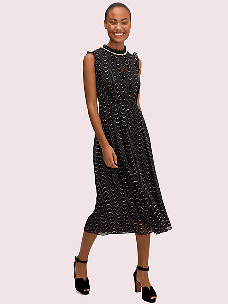 wavy dot silkdress by kate spade new york