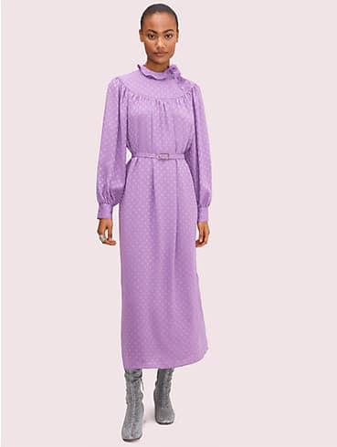 Gepunktetes Kleid mit Rüschen, , rr_productgrid