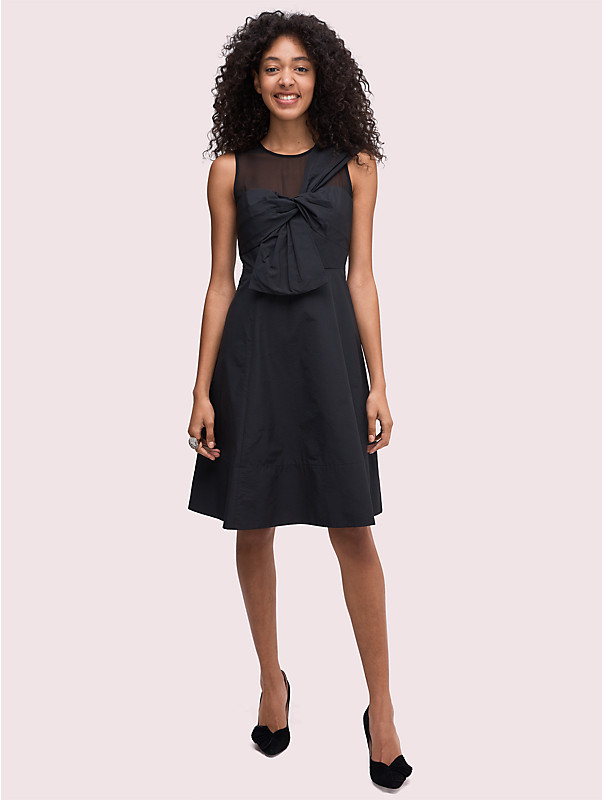 bow front faille dress, , rr_large