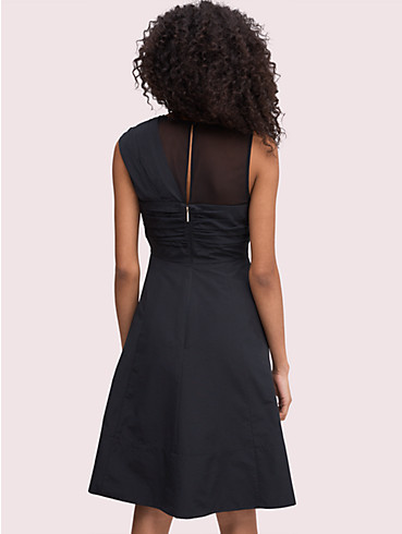 bow front faille dress, , rr_productgrid