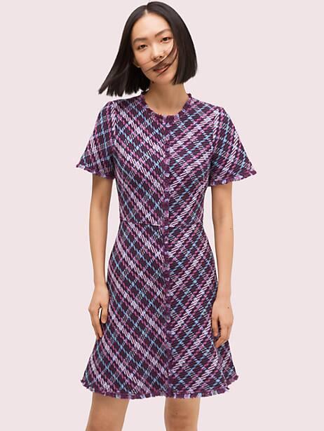 plaid tweed dress by kate spade new york
